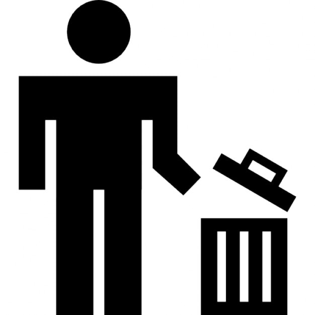 Man using a trash can Icons | Free Download