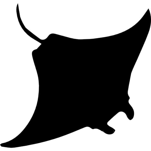 Manta Ray Shape Icons Free Download