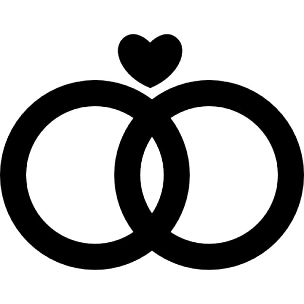 Marriage Rings Couple With A Heart Icons Free Download