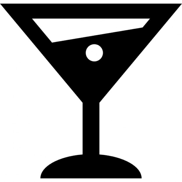 Martini alcoholic drink glass Icons | Free Download