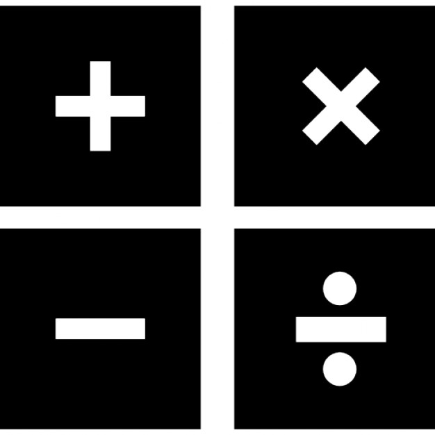 mathematical symbols in four squares icons free download. Black Bedroom Furniture Sets. Home Design Ideas