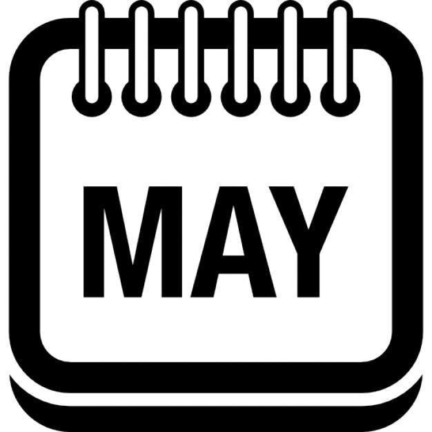 Calendar May Icon : May calendar page symbol icons free download