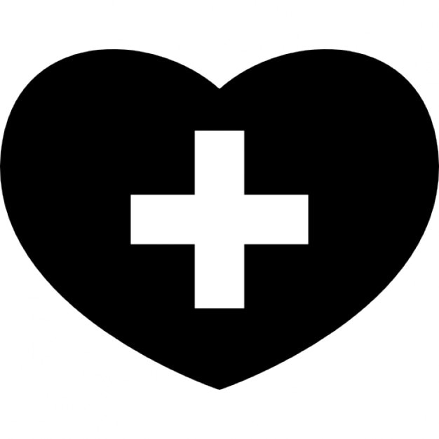 medical heart with cross symbol icons free download