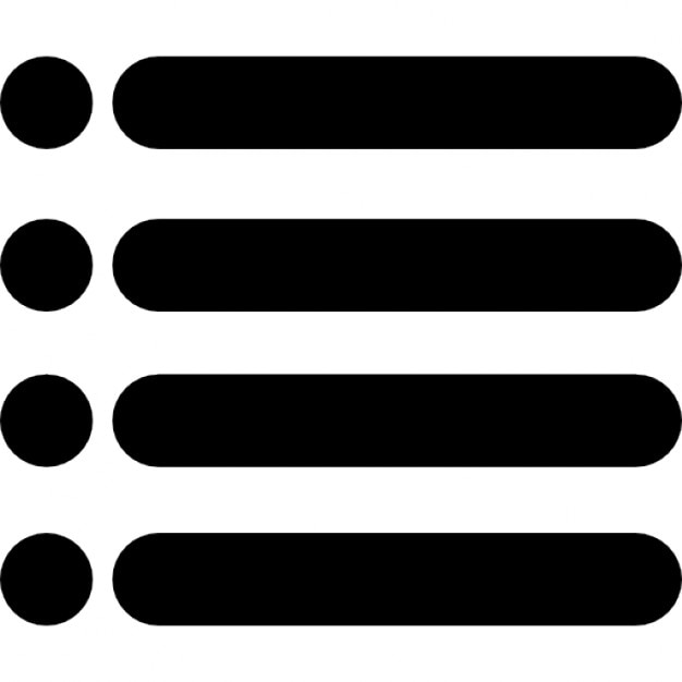 Menu Interface Symbol Of Four Horizontal Lines With Dots Icons