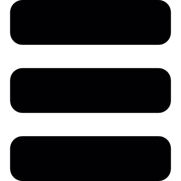 menu interface symbol of three horizontal parallel lines icons