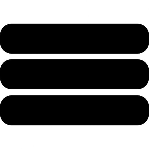 Menu Three Horizontal Parallel Lines Outline Ios 7