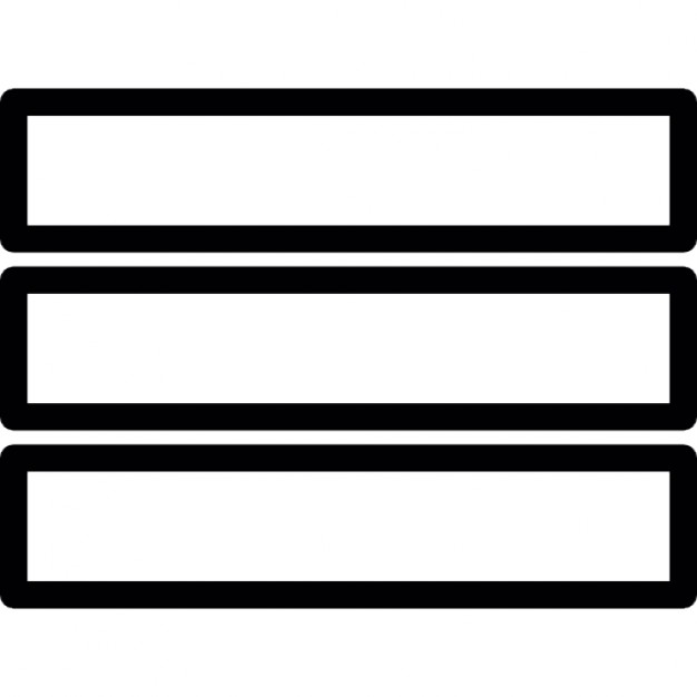 Menu Three Horizontal Parallel Lines Outline Ios 7 Interface