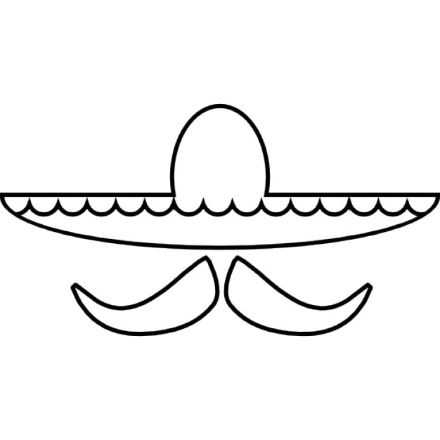 Mexican Hat And Mustache Ios 7 Interface Symbol Icons Free Download