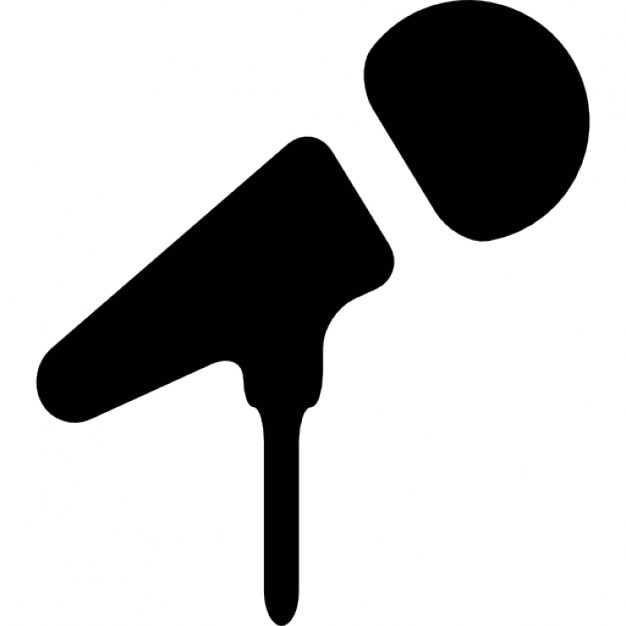Microphone black shape Icons | Free Download