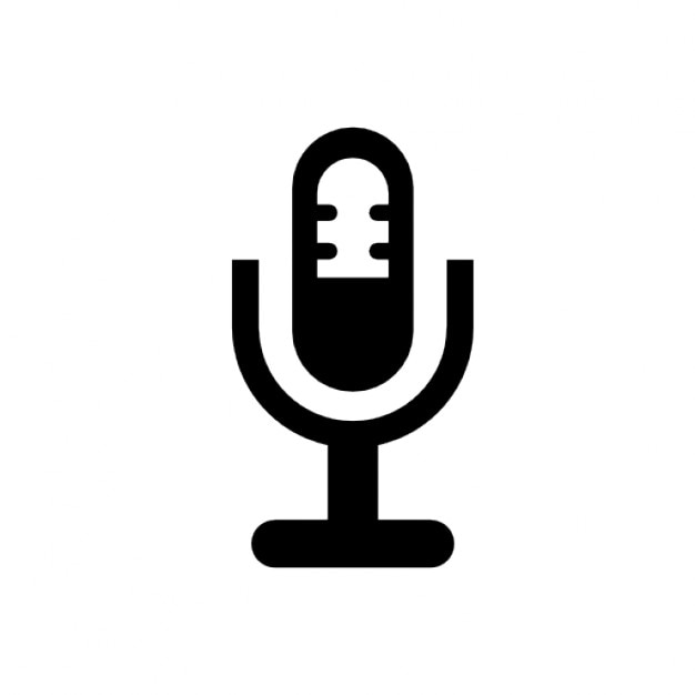 Microphone in a holder symbol Free Icon