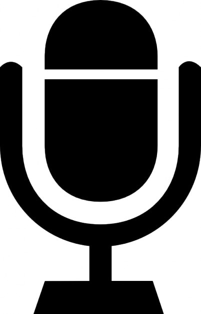 Microphone In A Holder Symbol 2 Icons
