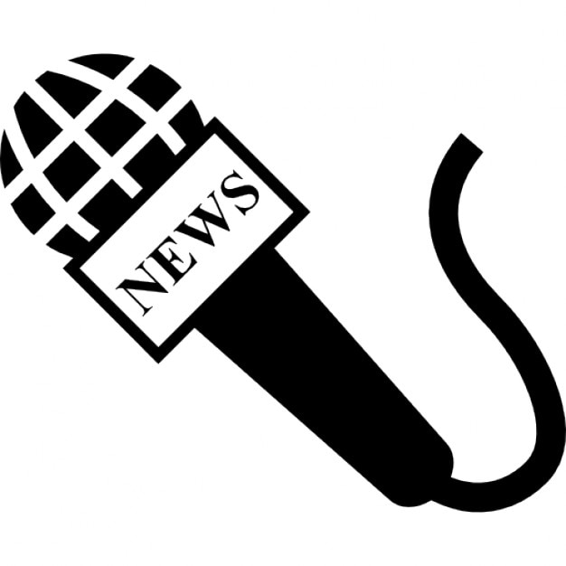 Microphone Of News Reporter Icons Free Download