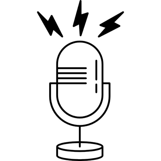 Microphone Outline Vectors, Photos and PSD files | Free Download