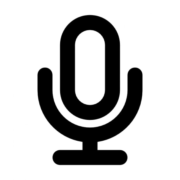 microphone outline Free Icon