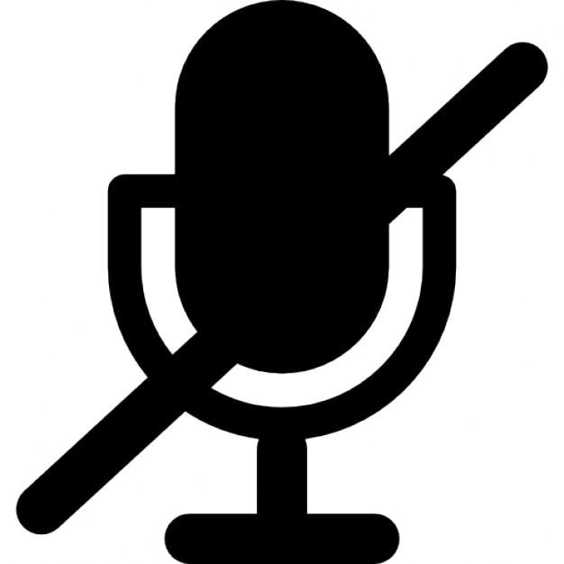 Microphone With A Slash Interface Symbol Icons
