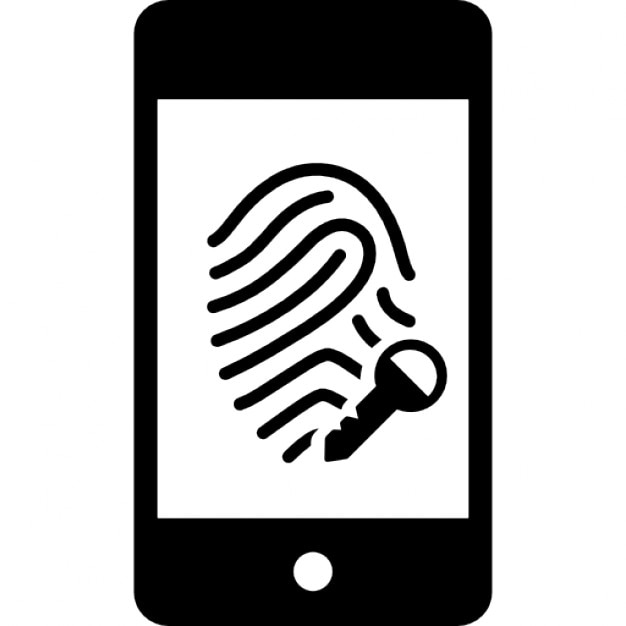 Mobile Fingerprint Scanner Security Option Icons Free Download