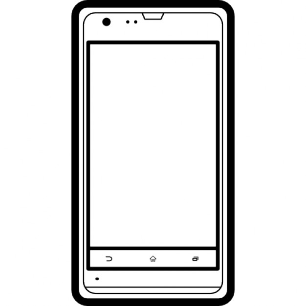 Mobile Phone Sony Model Outline Free Icon