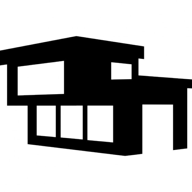 Modern building of a house icons free download for Modern house clipart