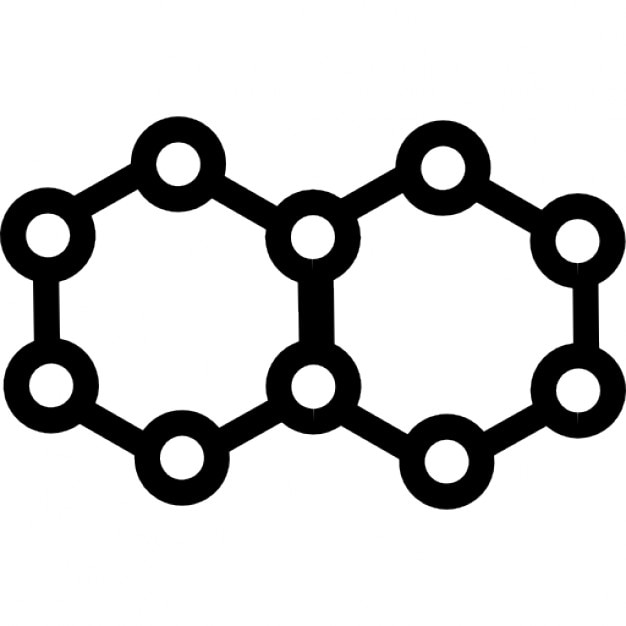 Molecule hexagonal shapes Icons | Free Download