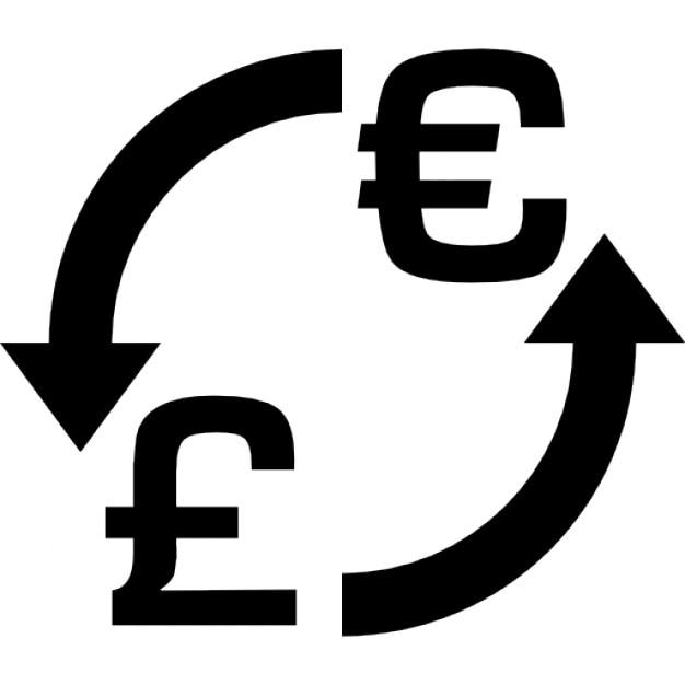 Money Exchange Euro Pounds Icons Free Download