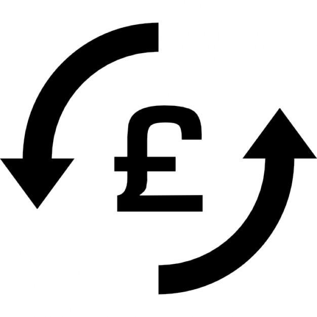 Money Pounds Exchange Symbol Icons Free Download