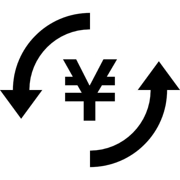 Money Yen Exchange Symbol Icons Free Download
