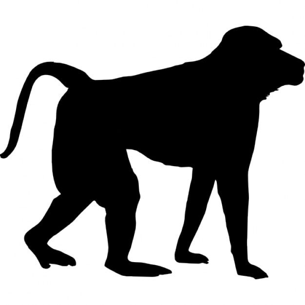 monkey shape free icon