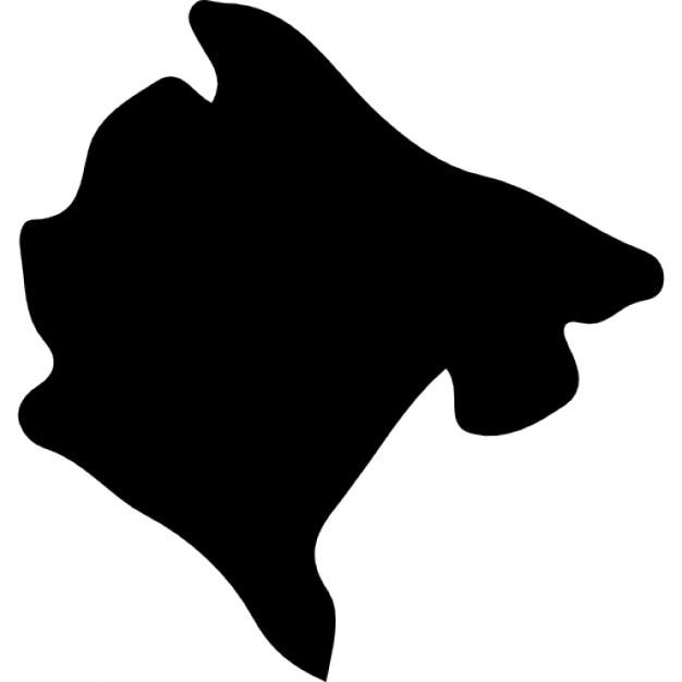 Montenegro Country Map Black Shape Icons Free Download - Montenegro map download