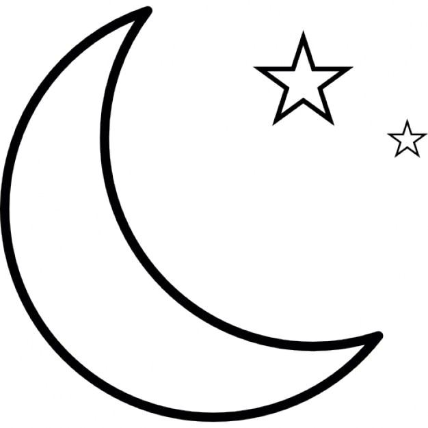 Moon And Stars Ios 7 Interface Symbol Icons Free Download