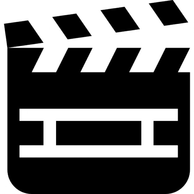 movie clapper tool to number filming scenes icons free