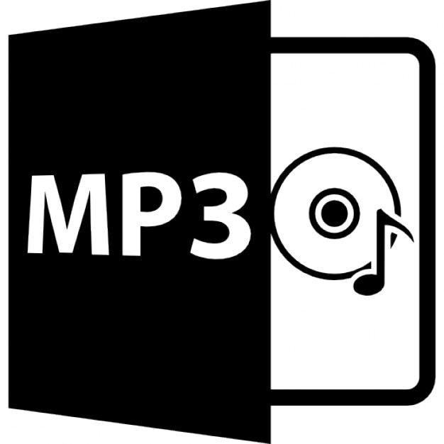 MP3 Symbol With Disc And Musical Note Free Icon