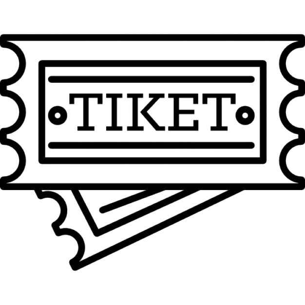 Museum ticket outline Icons – Ticket Outline