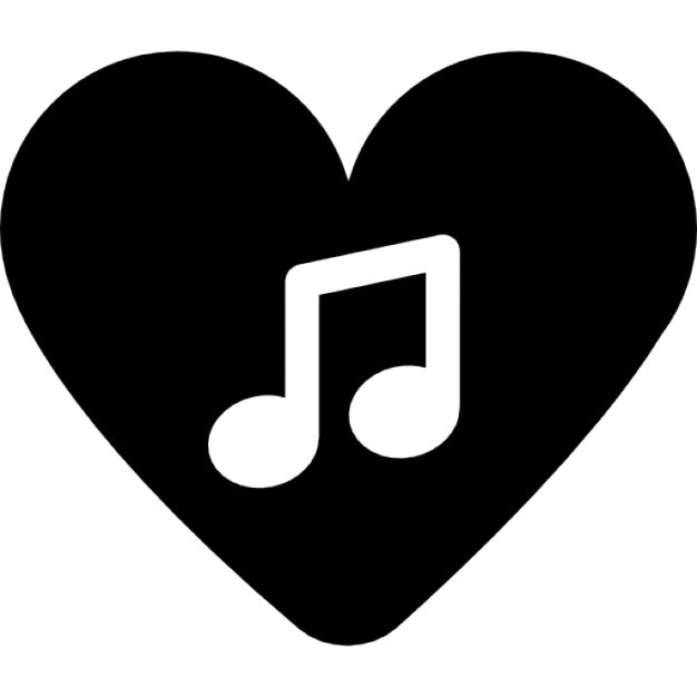 Music note inside a heart icons free download music note inside a heart free icon voltagebd Gallery
