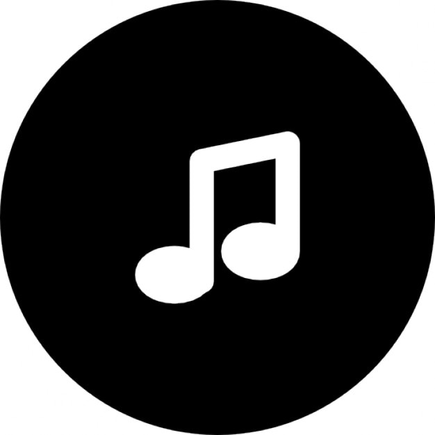 Musical note inside a button outline Icons | Free Download Music Icon Images Hd