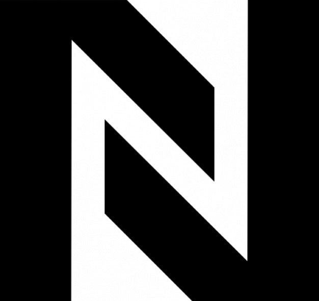 N formed by two angles Free Icon