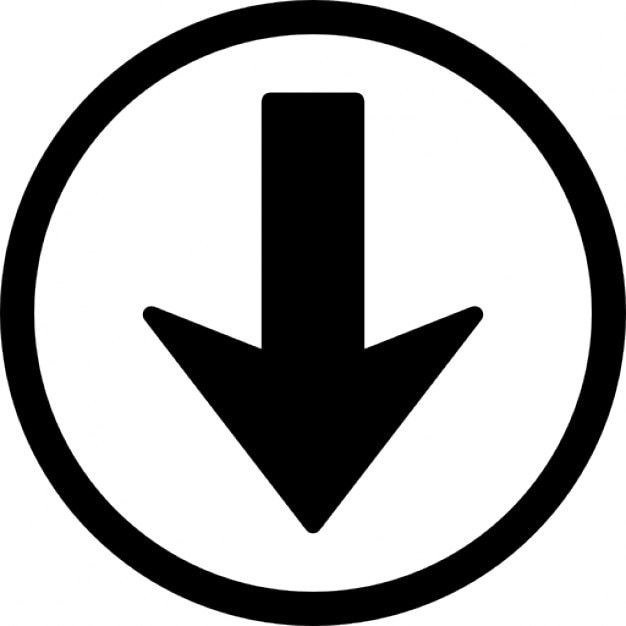 navigation arrow down button icons free download