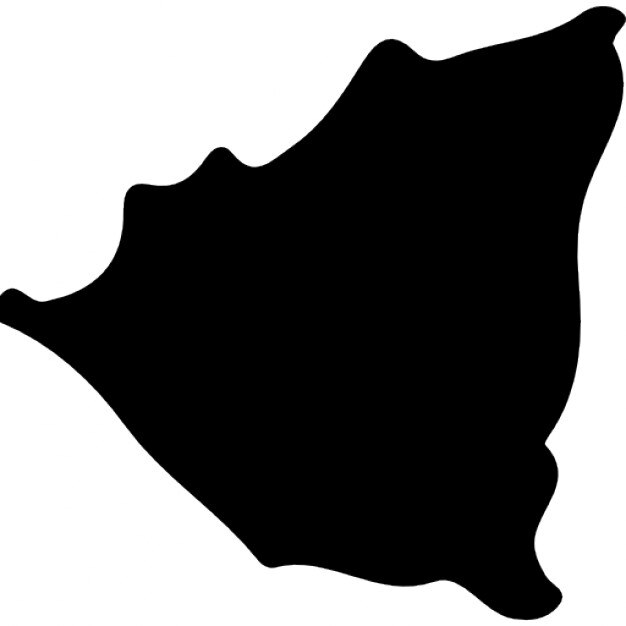Nicaragua Country Map Black Shape Icons Free Download - Nicaragua map download