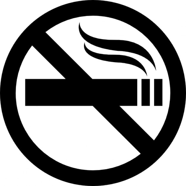 small no smoking signs