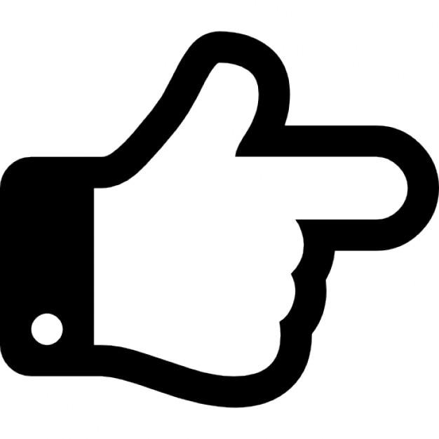 正しい方向を指している手の指 無料アイコン