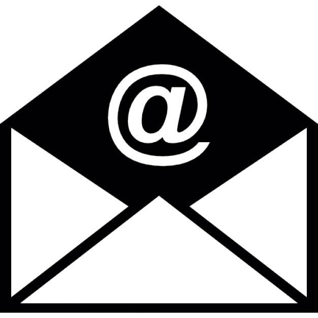オープンした電子メールのエンベロープ 無料アイコン