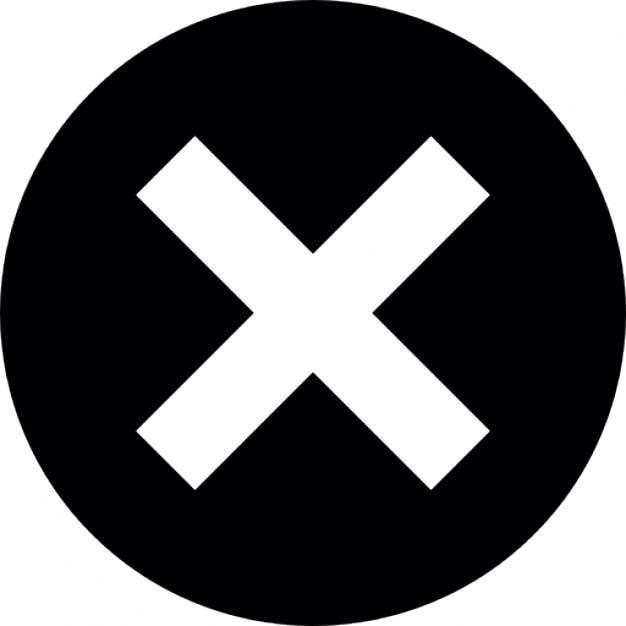 крестик на черном фоне круга Бесплатные Иконки