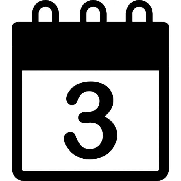 3日目 カレンダー アイコン 無料ダウンロード