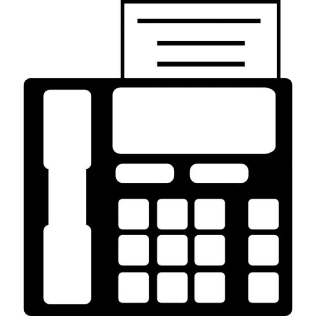 トレイの用紙とオフィス用のファックス機 アイコン 無料ダウンロード