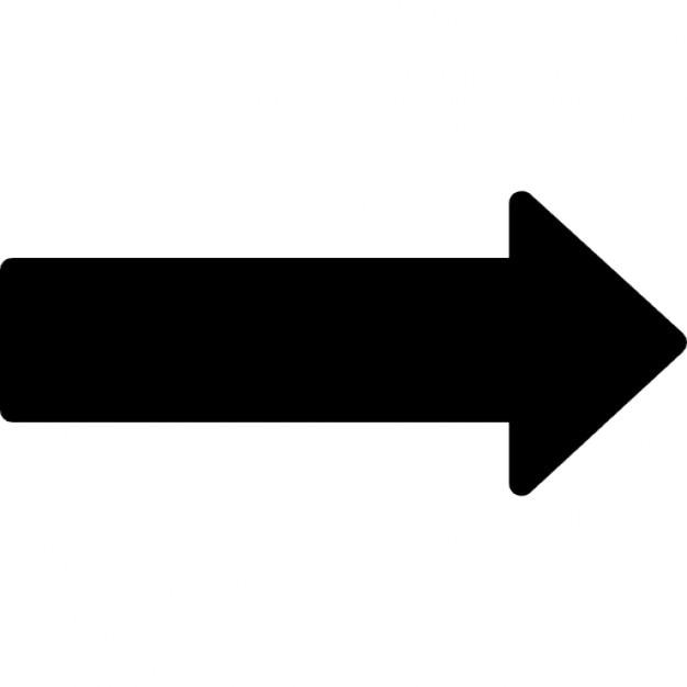 右の長い黒い矢印 アイコン | 無...