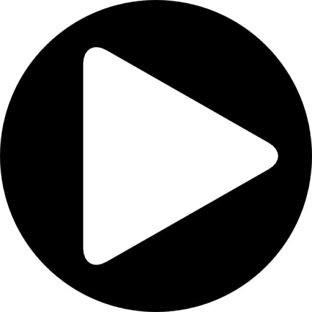 円形状のプレーヤーの再生ボタン...
