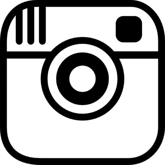 Instagramの写真をカメラのロゴのアウトライン 無料アイコン