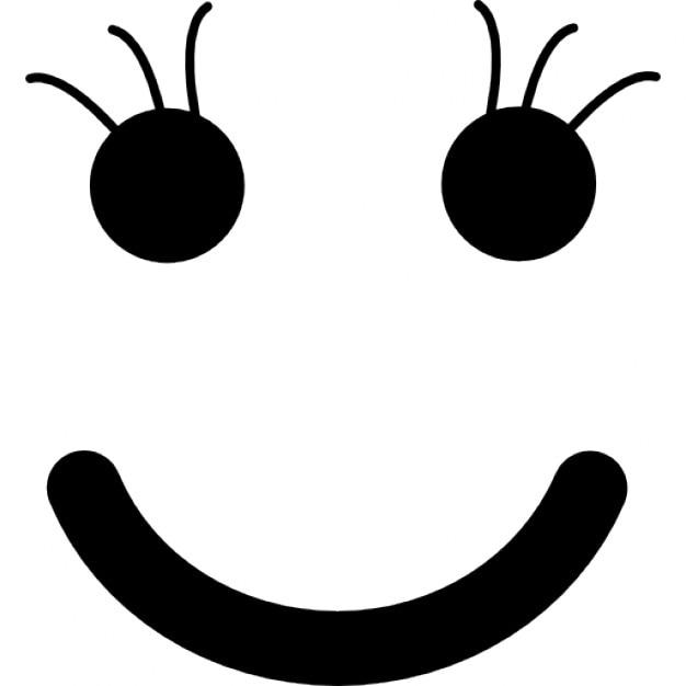 四角い顔の形のスマイリー 無料アイコン