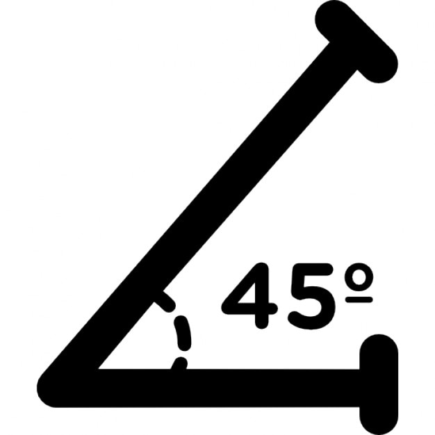 45 градусов угол картинка