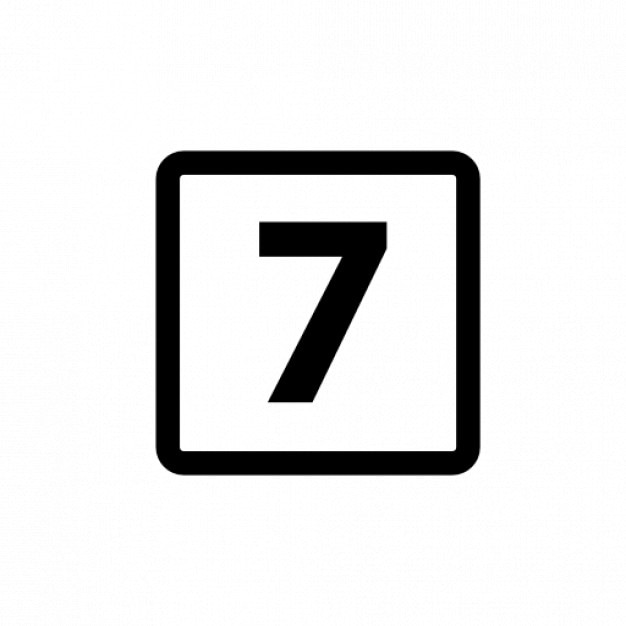 number 7 icon icons free download