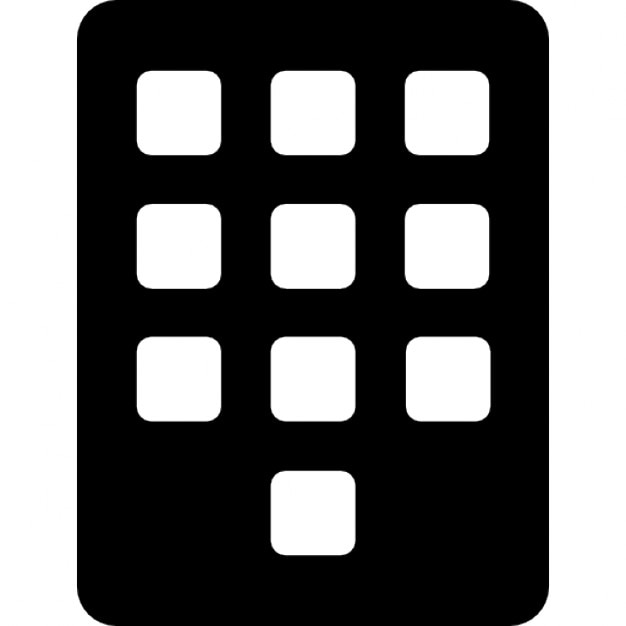 Keyboard or keypad, IOS 7 interface symbol vector icon - Interface ...